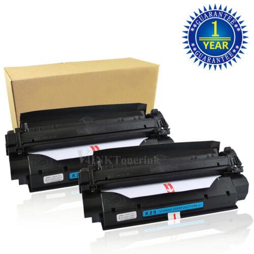 2 Pack X25 X-25 Black Toner Cartridge For Canon Imageclas...