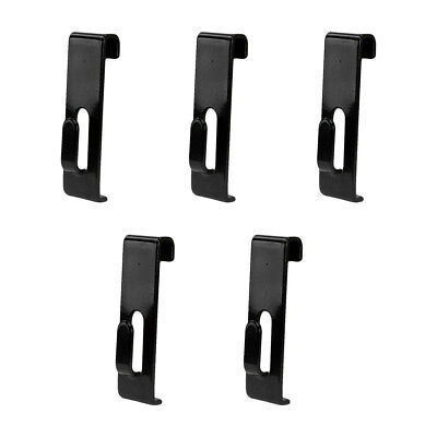 5 Pcs Gridwall Utility Hook Grid Wall Panel Display Picture Notch Black