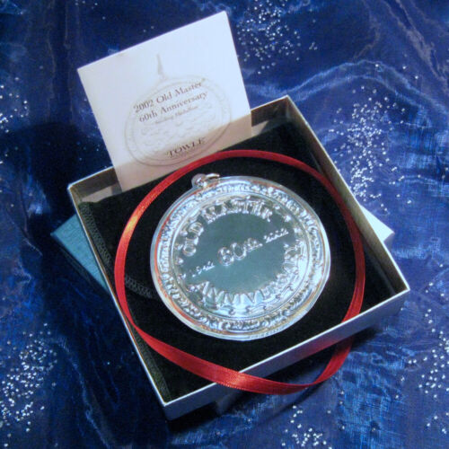 NEW • Towle 2002 Old Master 60th ANNIVERSARY Sterling Christmas Ornament