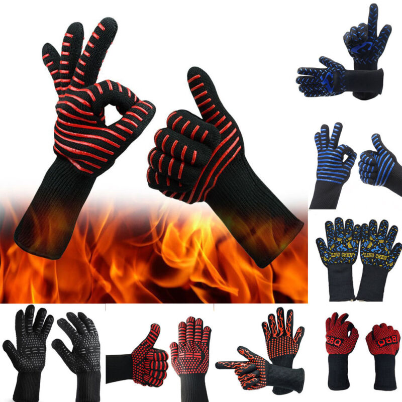 Hot BBQ Grilling Cooking Gloves Extreme Heat Resistant oven Welding Gloves