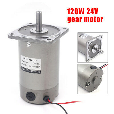 120w 24v Electric Gear Motor Variable Speed Controller 11 1800rpm High Torque