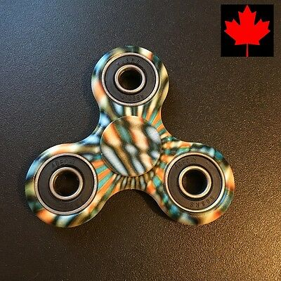 "Fidget Tri Spinner EDC Stress Relief Focus Fun Toy - ""Psychedelic Blur"""