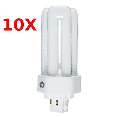 10x GE 13w Kompaktleuchtstofflampe Biax-T/E GX24q-1 4 Pin 827 warmweiß - 13w 4 Pin Lampe