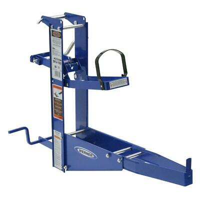 Blue Steel Pump Jack For Planks Scaffolding Power Tool Manual Crank Pole-track