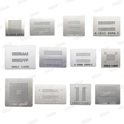 12 Pcs Bga Reballing Kit Para Ddr1-ddr5 Stencil Template For Memory