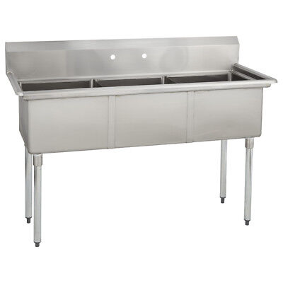 3 Three Compartment Commercial Stainless Steel Sink 59 X 23.8 G