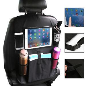 Car Back Seat Organiser Organizer ipad Tablet Holder Storage Kick Mats Kids Tidy