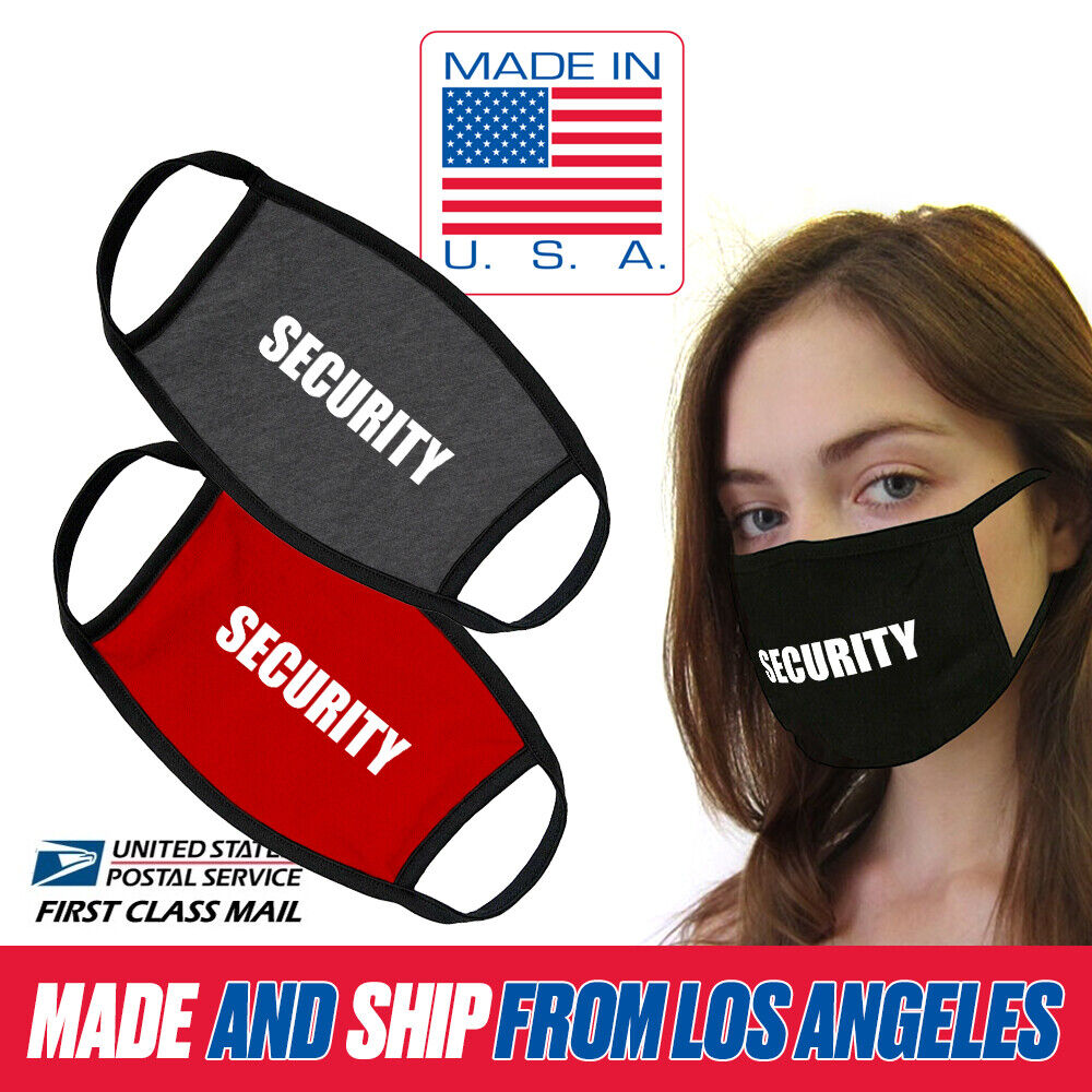 Essential Service Security Guard Cotton Washable Reusable Face Mask MADE IN USA Home & Garden