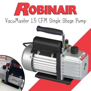 NEW Robinair 15115 VacuMaster 1.5 CFM Single Stage Pump Condtion: New