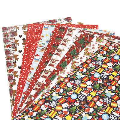 Diy Christmas Projects (20*34cm Christmas Theme Colorful Printed Leather Fabric Textile For DIY)