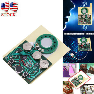 1-10X 30S Recordable Voice Module For Greeting Card Music Sound Talk Chip XMAS ()