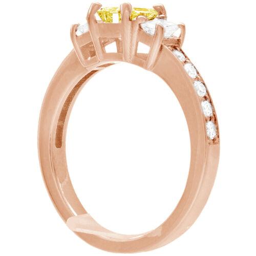 Diamond Engagement Ring GIA Certified Fancy Yellow Emerald Cut 18k Gold 2.31 CT 8
