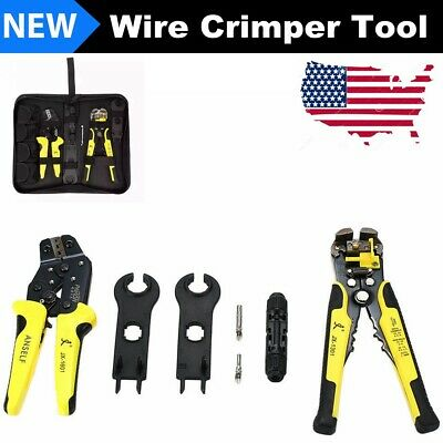 Jx-mc4 Solar Panel Ratcheting Wire Crimper Tool Kit Crimping Pliers Terminals