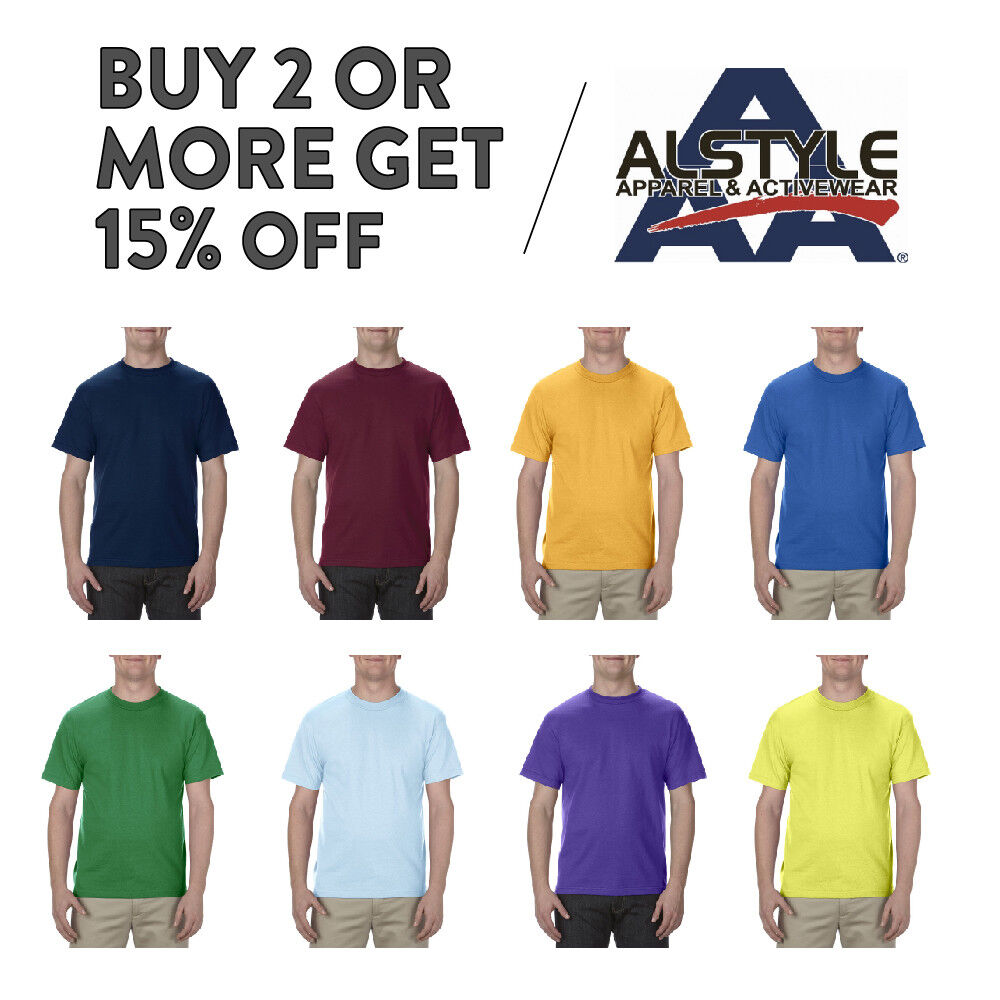AAA ALSTYLE 1301 MENS CASUAL T SHIRT PLAIN SHORT SLEEVE SHIR