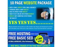 Web Design Package start from £199 - FREE One Year Hosting - Affordable Prices