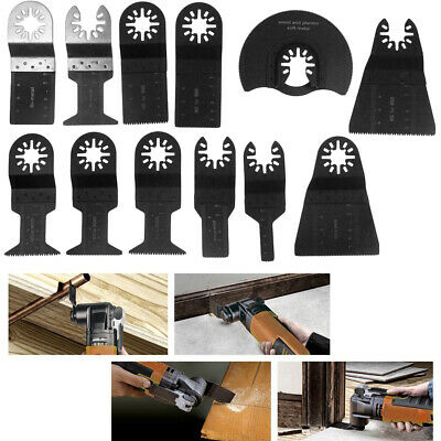 12pcs Oscillating Multi Tool Saw Blades Carbon Steel Cutter For Fein Dremel Home