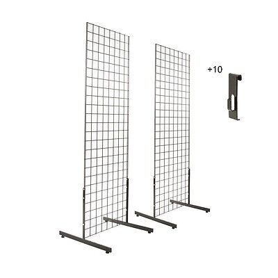 Gridwall Panels 2 X5 With T-leg Stands And Utility Hooks