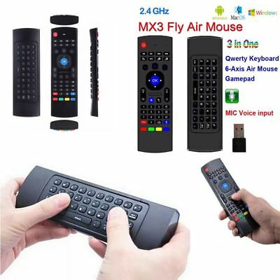 2.4GHz Fly Air Mouse Wireless Voice Keyboard Remote for XBMC MXQ MX3 M8S