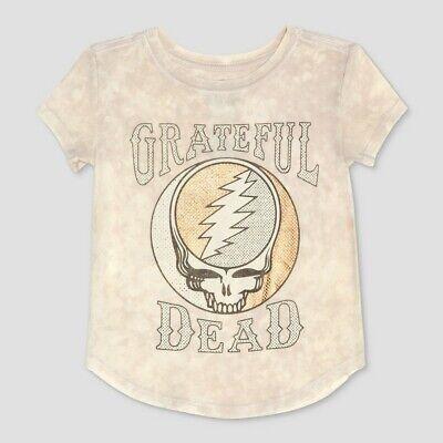 3t Short - Toddler Girls' Grateful Dead Short Sleeve T-Shirt - Gray 3T, White