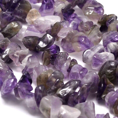16 Inch Semi Precious Gemstone Amethyst 8-10mm Chip Beads