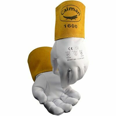 Caiman 1600 - Goat Grain Unlined 4in Cuff Tig Welding Gloves