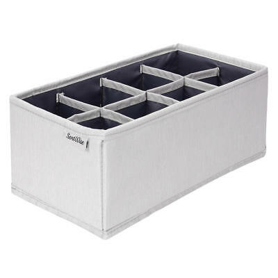 Drawer organizer (8 cells)Polyester blend with PP board,with zipper light grey