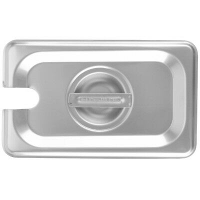 6-pack 19 Size Slotted Stainless Steel Silver Steam Table Hotel Pan Lids