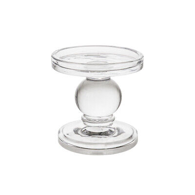 """Mega Candles - 3.75"""" Pillar Glass Candle Holder - Clear, 1PC"""