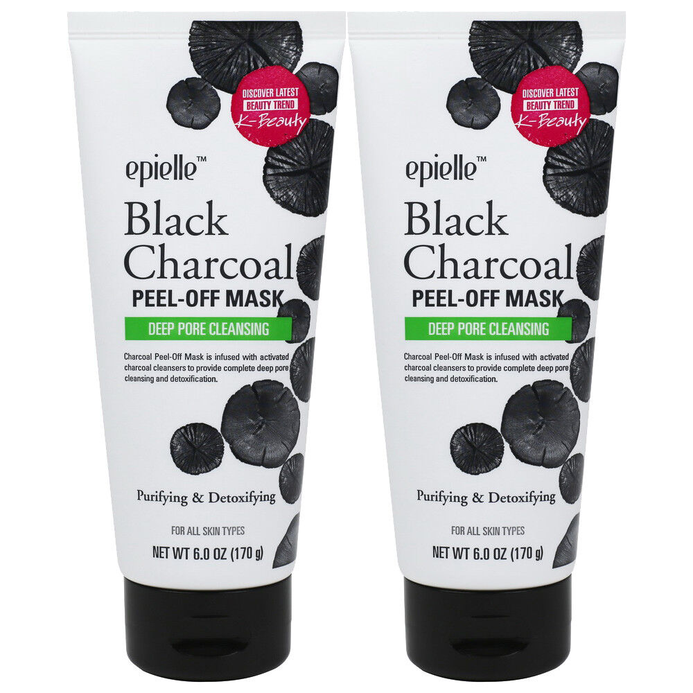 Epielle Purifying Black Charcoal Facial Peel-Off Mask, 6oz