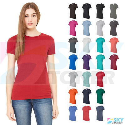 Canvas Short Sleeve Shirt (New! Bella + Canvas Women's The Favorite Tee Short Sleeve Crewneck T-Shirt 6004 )