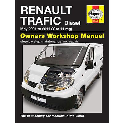 New Haynes Manual Renault Trafic Diesel 01-2011 Van Workshop Repair Book 5551
