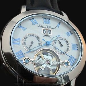 NEW-MENS-AUTOMATIC-VAAN-KONRAD-35-JEWEL-OPEN-HEART-WATCH-UNIQUE-OVAL-DESIGN