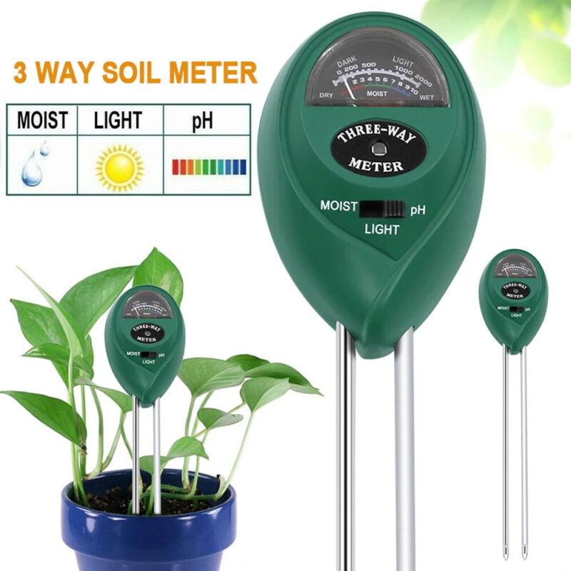 3 in 1 Soil Tester Meter For Garden Flower Plant Moisture/Light/pH Sensor Kit US