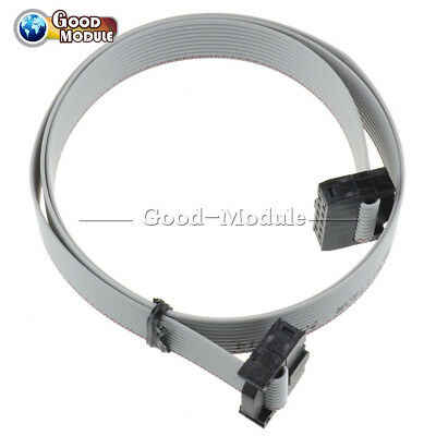 70cm 2.3ft 10 Pin Usbisp Usbasp Jtag Avr Wire Idc Flat Ribbon Cable Data 2.54mm