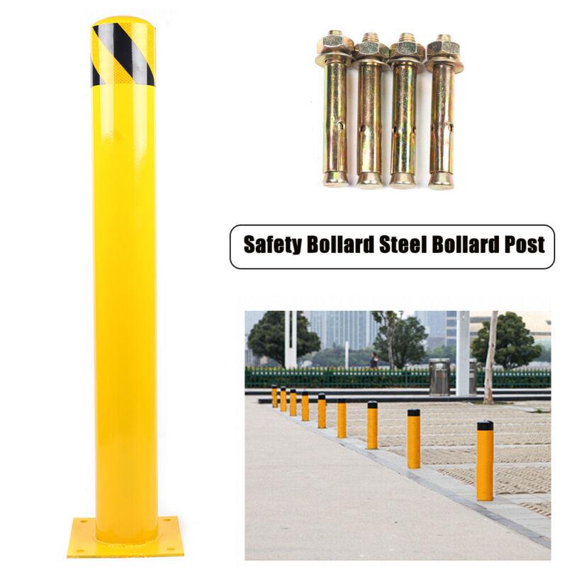 "Yellow Sign Pipe 36""H 5.5""D Safety Bollard Steel Bollard Post Steel Barrier USA"