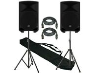 "Mackie Thump 15"" 1000W Active Speakers With Stands"