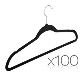 Set of 100 Velvet Coat Hangers