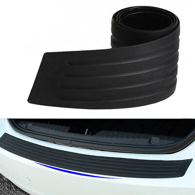 Auto Rear Back Door Bumper Sill Protector Plate Rubber Cover Guard Anti Scartch