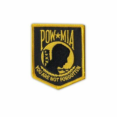 Hat Lapel Push Tie Tac Pin POW MIA Dog Tag and Chain NEW