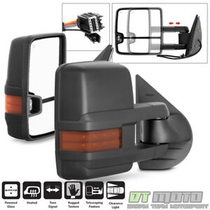 [NEW STYLE] 2007-2013 Chevy Silverado Sierra Tow Power+Heated+LED Signal Mirrors