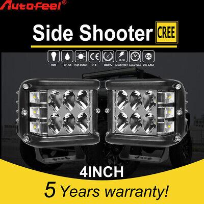 2PCS 4INCH 276W LED Light Bar Spot Flood Pods Lights Off Road Tractor 4WD 12V
