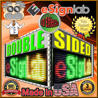 Rgy Redgreenyellow Double Side19 X 85 Outdoor Programmable Led Sign