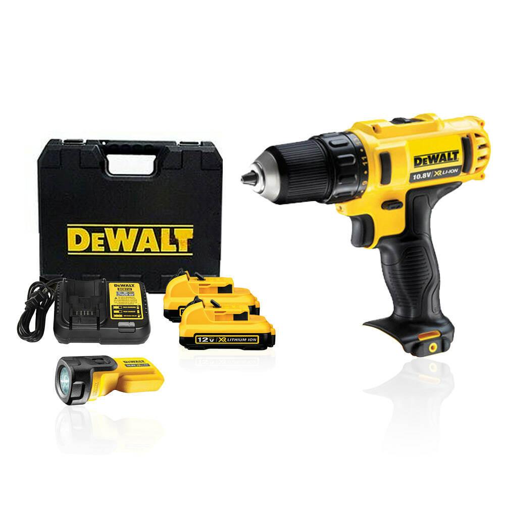 Dewalt DCD710D2T 10.8V 2.0Ah Drill Driver w/ DCL508N LED Work Light