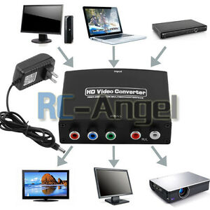 4K HDMI to 5RCA RGB Component YPbPr Video +R/L Audio Adapter Converter HD TV