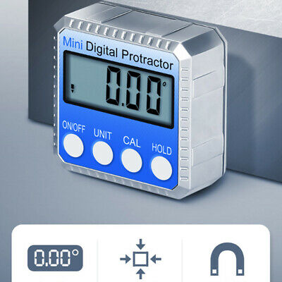 360 Digital Display Level Angle Protractor Inclinometer Measuring Magnet Tools