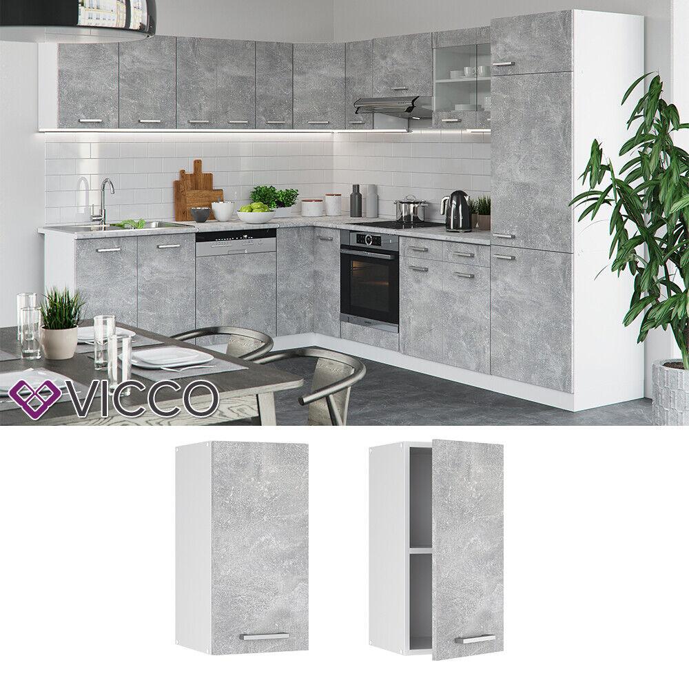 VICCO Küchenschrank Hängeschrank Unterschrank Küchenzeile R-Line Hängeschrank 30 cm beton