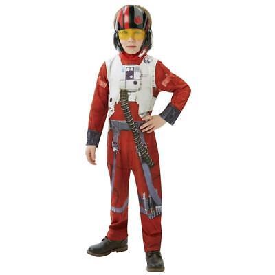 Star Wars The Force Awakens Poe Dameron Costume Fancy Dress Age 5 6 Years X Wing