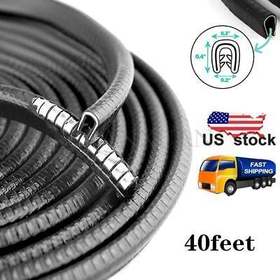 40FT Car Edge Protector Rubber Auto Door Noise Insulation Sealing Strips Trim