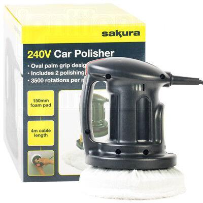 240V Car Electrical Handheld Orbital Motion Polisher Paint Buffer Wax Machine