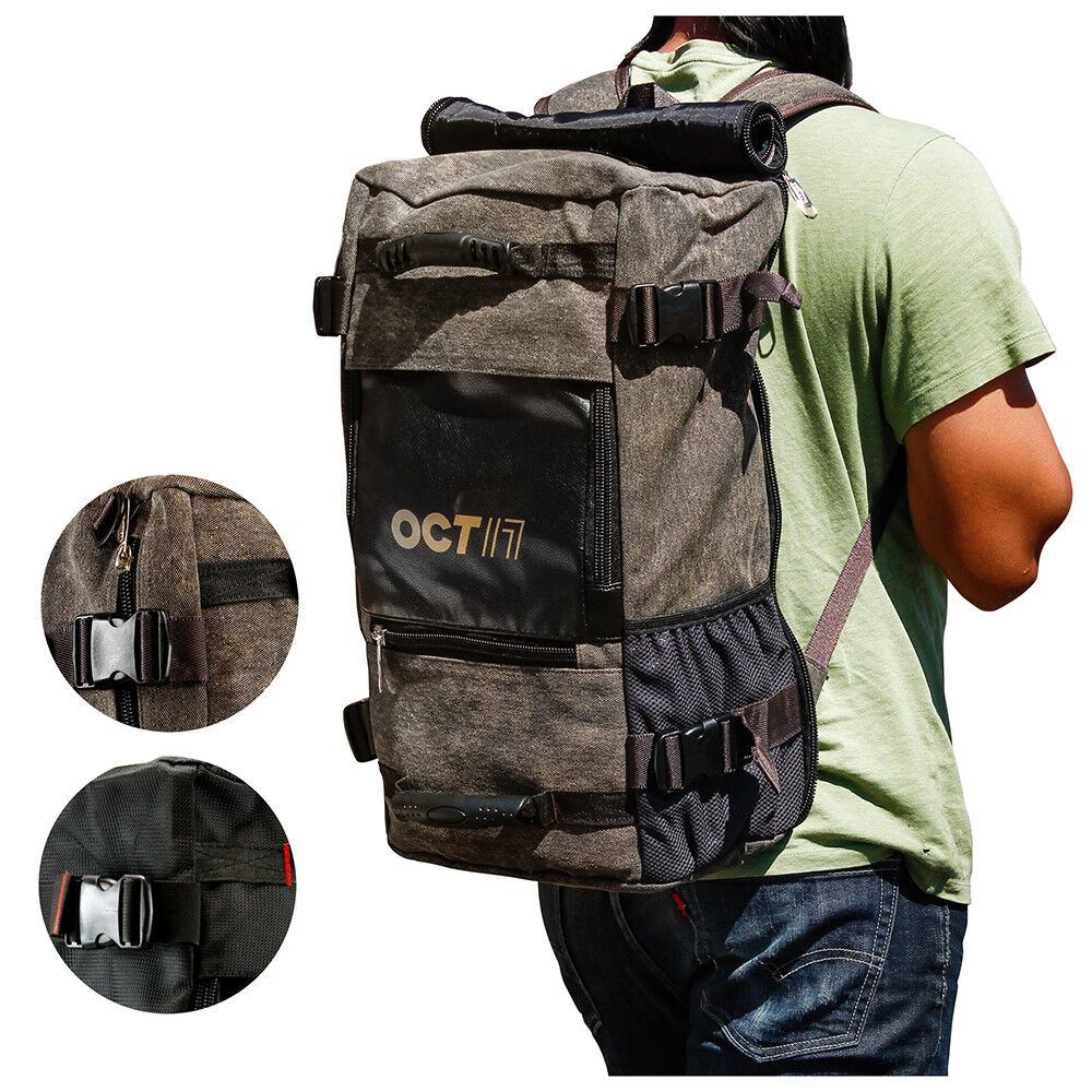 Men's Choice Canvas Backpack Travel Sport Rucksack Satchel School Hiking Bag